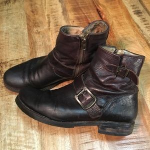 Frye veronica brown leather ankle. boots